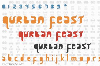 Qurban Feast Font
