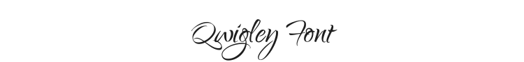 Qwigley Font Preview
