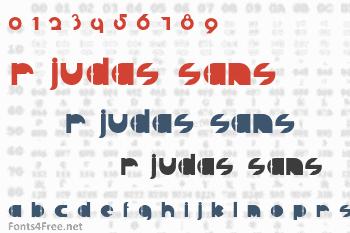 R Judas Sans Font