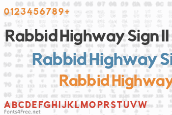 Rabbid Highway Sign II Font