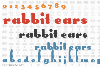 Rabbit Ears Font