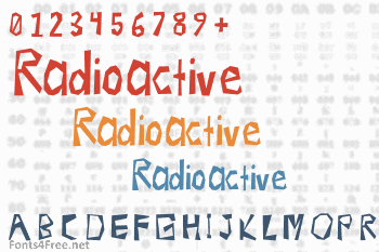 Radioactive Font