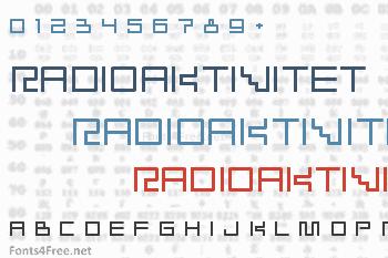 Radioaktivitet Font