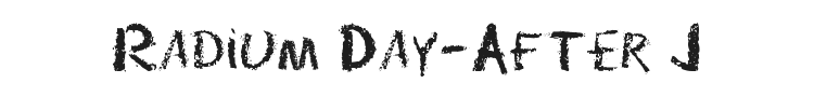 Radium Day-After J Font Preview