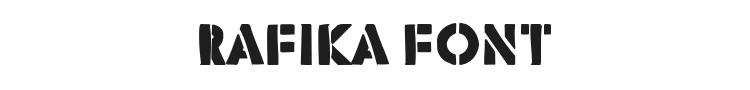 Rafika Font Preview