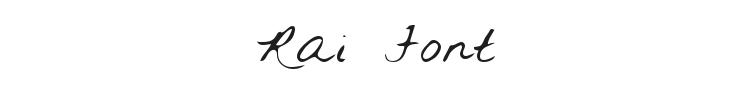 Rai Font Preview