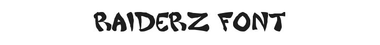 Raiderz Font Preview