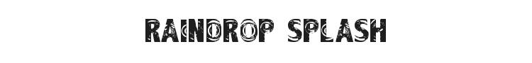 Raindrop Splash Font Preview