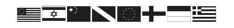 Raise Your Flag Font Preview
