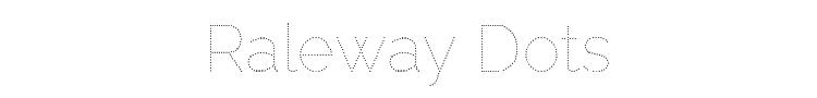 Raleway Dots Font Preview