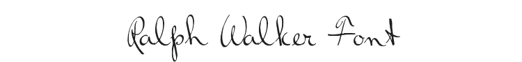 Ralph Walker Font Preview