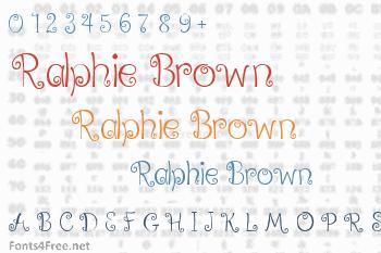 Ralphie Brown Font