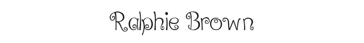 Ralphie Brown Font Preview