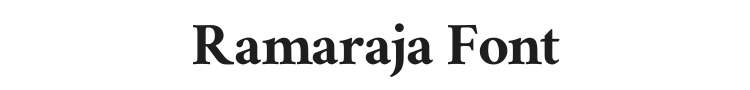 Ramaraja Font Preview