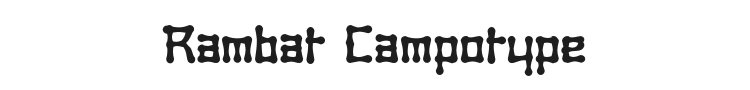 Rambat Campotype Font Preview