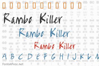 Rambo Killer Font