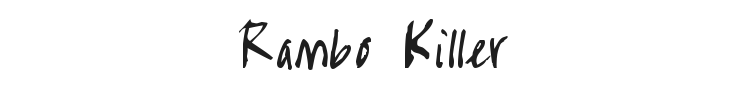 Rambo Killer Font Preview