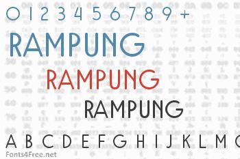 Rampung Font