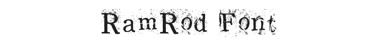 RamRod Font Preview