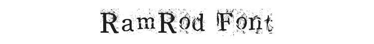 RamRod Font