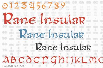 Rane Insular Font