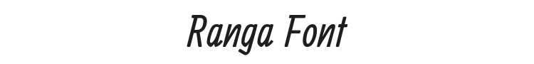 Ranga Font Preview