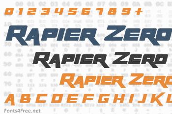Rapier Zero Font