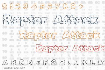 Raptor Attack Font