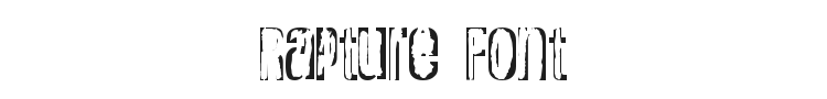 Rapture Font Preview