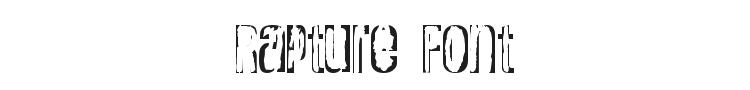 Rapture Font