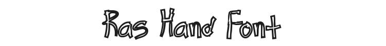 Ras Hand Font