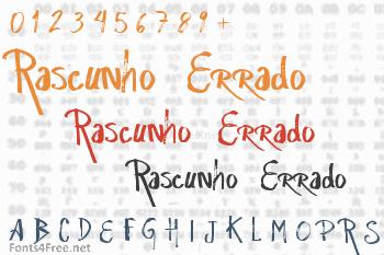 Rascunho  Errado Font
