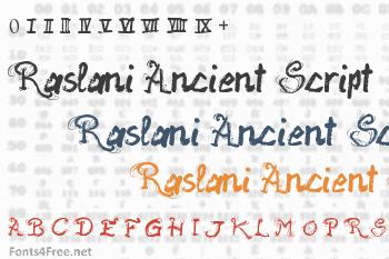 Raslani Ancient Script Font
