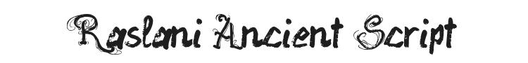 Raslani Ancient Script Font Preview