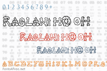 Raslani hO oH Font