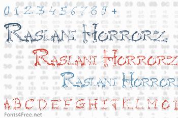 Raslani Horrorz Font