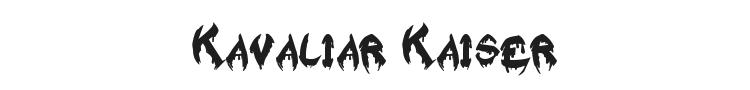 Raslani Kavaliar Kaiser Font
