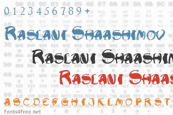 Raslani Shaashimov Font