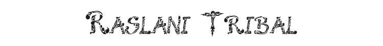 Raslani Tribal Font