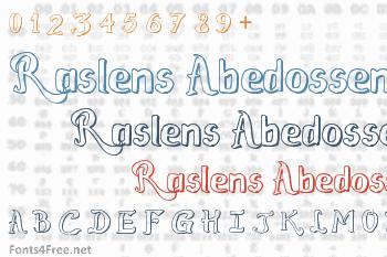 Raslens Abedossen Font