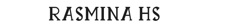 Rasmina HS 60 Font Preview