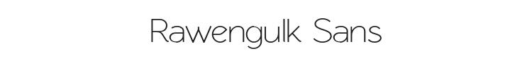 Rawengulk Sans Font Preview