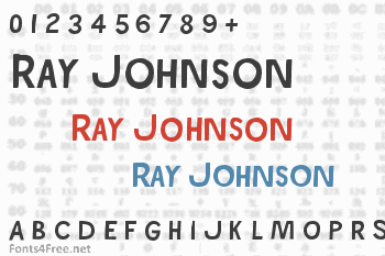 Ray Johnson Font