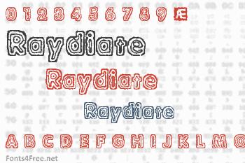 Raydiate Font