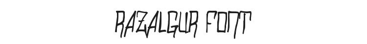 Razalgur Font Preview