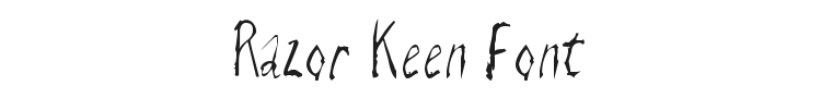 Razor Keen Font Preview