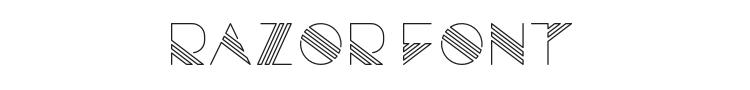 Razor Font Preview