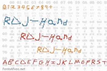 RDJ-Hand Font