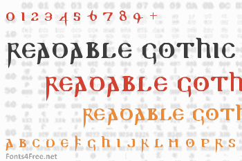 Readable Gothic Font