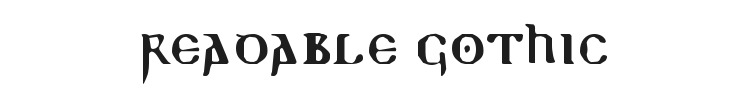 Readable Gothic Font Preview